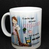 tazza in ceramica illustrata