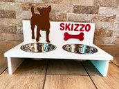 Tavolino porta ciotole per cani