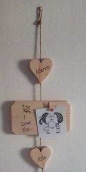 Portafoto in legno personalizzato