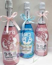 Bottiglia personalizzata per nascita