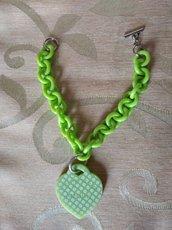 Bracciale in resina verde