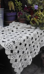 centrino tovaglietta handmade Italy crochet cotone artigianato vintage