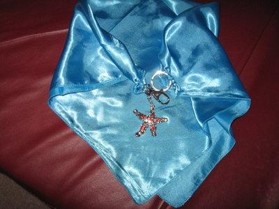 foulard-gioiello azzurro