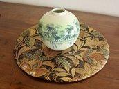 Decorazione casa Sotto vaso/ Sotto piatto con tessuto di Obi/Kimono 100%Seta Giapponese Ottimo Regalo