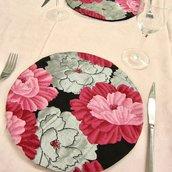 Decorazione casa Sotto vaso/ Sotto piatto con tessuto Peonia di Obi/Kimono 100%Seta Giapponese Ottimo Regalo