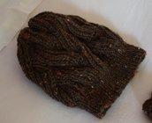 Capellino punto brioche - marrone tweed