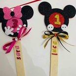 stecco personalizzato Topolino e Minnie