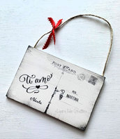 Idea regalo San Valentino: Cartolina in legno personalizzata per dire TI AMO