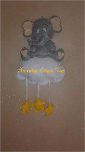 Fiocco nascita neutro elefante