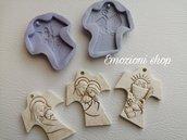Stampi tao 3 pezzi maternita' sacra famiglia e calice prima comunione