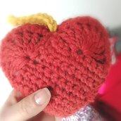 cuore ad uncinetto (amigurumi)
