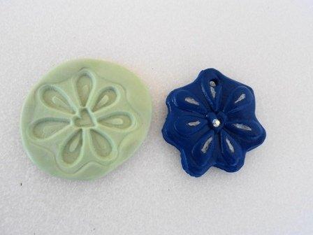Stampo fiore blu