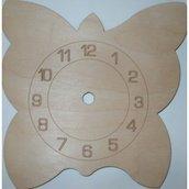 Orologio piccolo sagoma farfalla cm 18x18