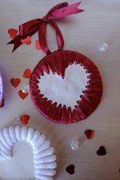 Decoro da appendere a forma di cuore ~ San Valentino 2021 ~ bomboniera bordeaux