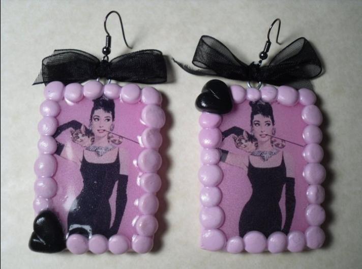 orecchini Audrey rosa