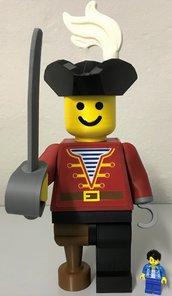 Omino PIRATA stile lego Gigante , Minifigure PIRATA gigante in stile lego, LEGO XL , lego PIRATA gigante
