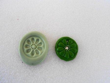 Stampo fiore verde