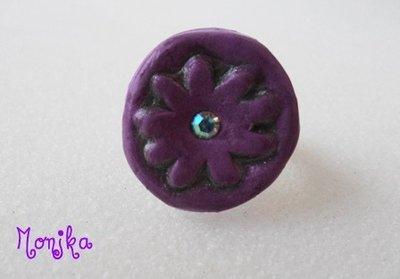 anello fiore lilla