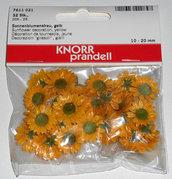Decorazioni girasoli margherite gialle Knorr Prandell 32pz