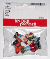 Nani da giardino gnomi in miniatura KnorrPrandell 4pz