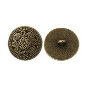 10 bottoni stile vintage metallo colore bronzo