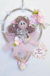 Dietroporta decorazione bambola sull'altalena country
