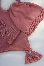 Poncho bimba in puro merinos handmade