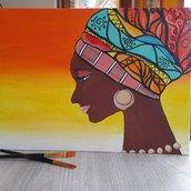 Profilo di donna_Acrilico su tela_30x40cm