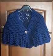 Mantellina della nonna, scialle, coprispalle colore blu scuro.