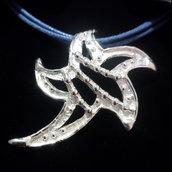 """Ciondolo da donna """"stella marina"""" in argento 925 fatto a mano C199"""