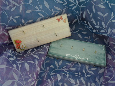Portapresine / portachiavi in legno decorati
