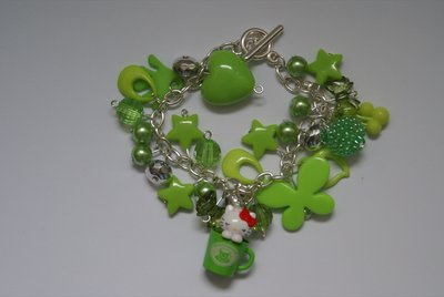 Bracciale Hello kitty mug verde