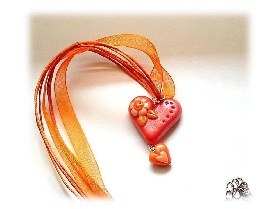Collana cuore orange
