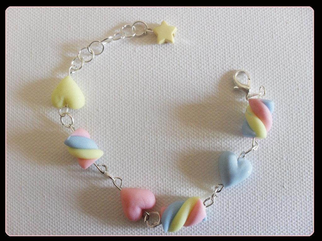 braccialetto marshmellow-cuori