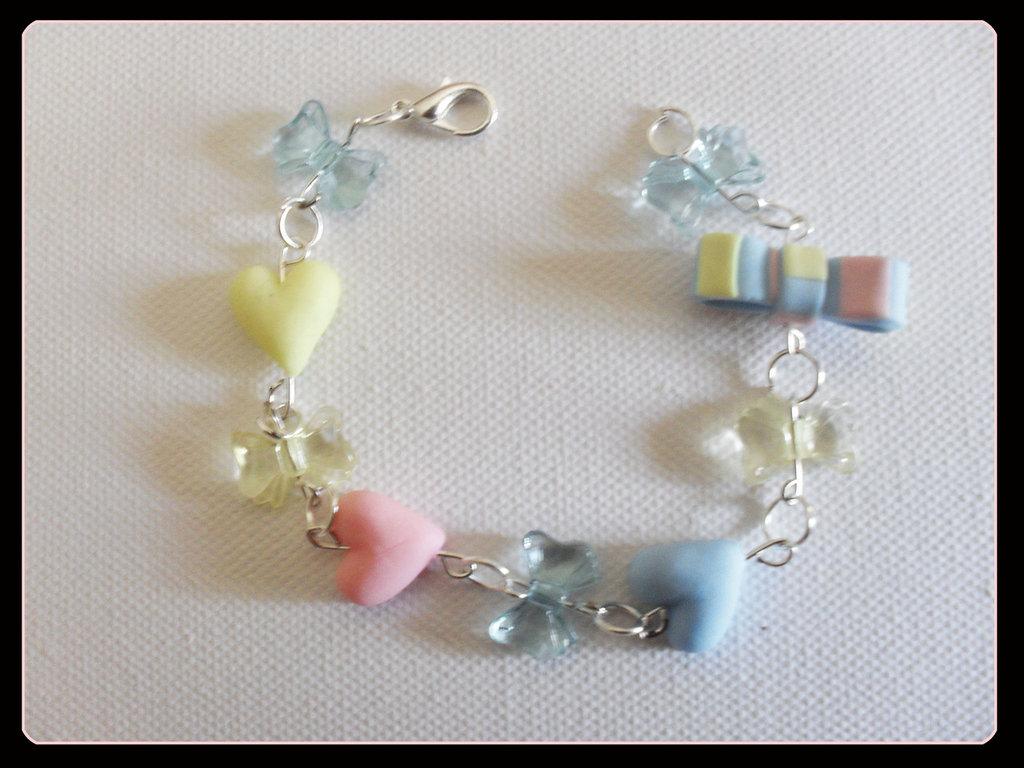 braccialetto cuori-fiocchetto