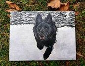 Quadro ritratto del vostro animale domestico (cane, gatto, criceto, pesce, ecc)