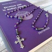 Collana purple rosario style