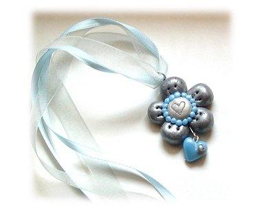 Collana fiore quarzo azzurro