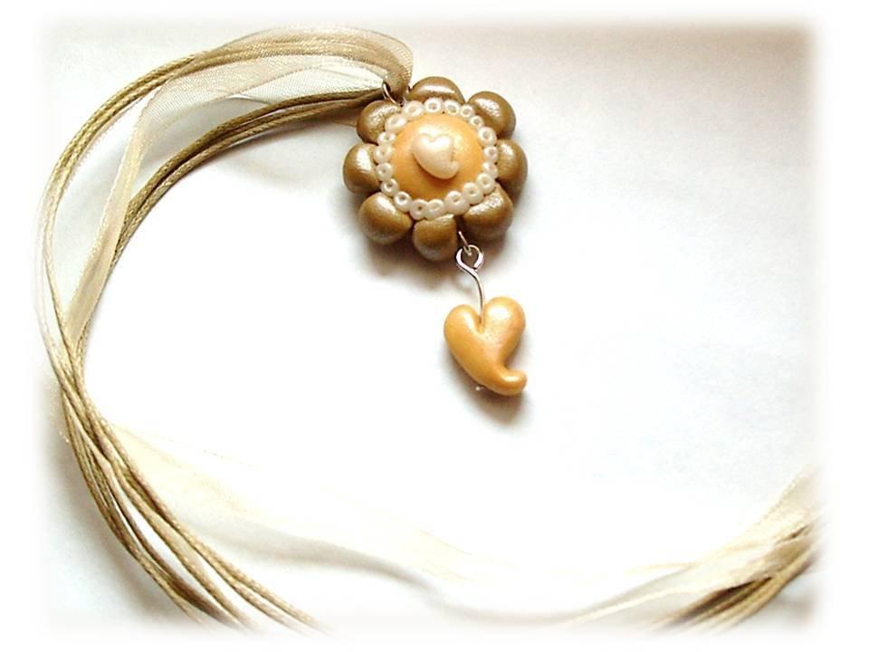 Collana fiore oro- oro antico