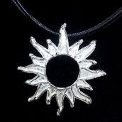 """Ciondolo """"sole"""" in argento 925 fatto a mano C230"""