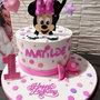 Torta scenografica Minnie  e pois ❤️ Personalizzata