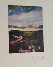 Paesaggio stampa, firma originale, artista