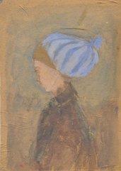Disegno ritratto ragazza, pezzo unico, originale, figura, arte contemporanea