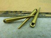 6 charms a punta 34x5mm bronzo