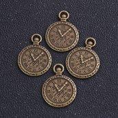 Coppia charms orologio bronzo 29x21mm