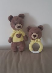 Sonaglio con orsetto abbinato per bebè