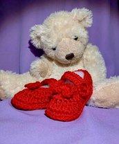 scarpine rosse per neonata