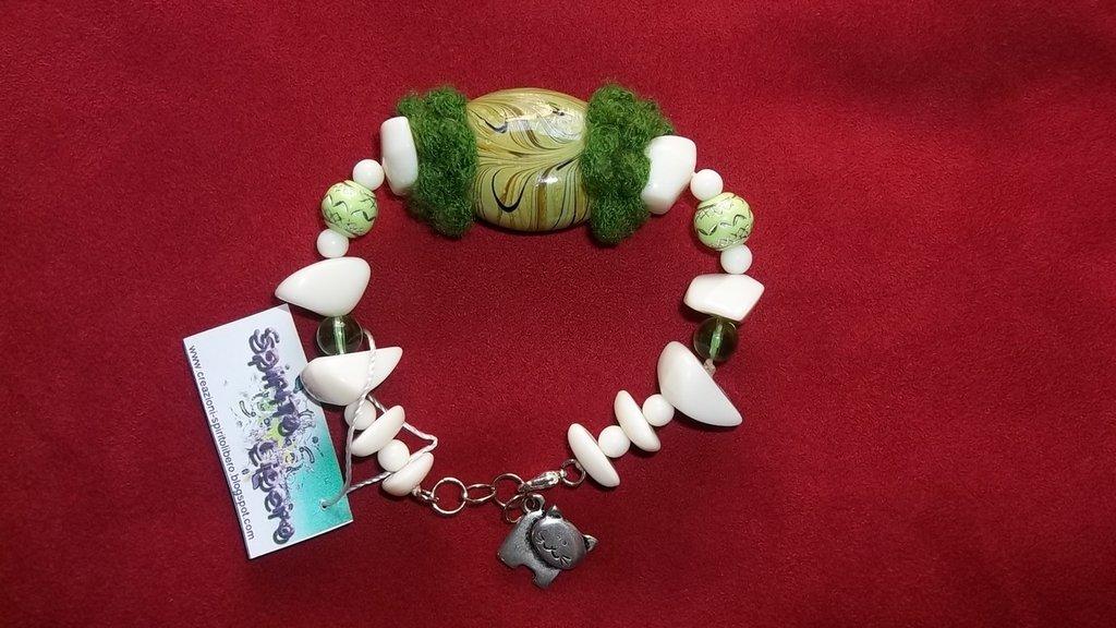 Bracciale perla verde