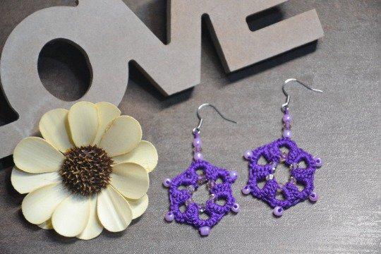 Orecchini pendenti Purple