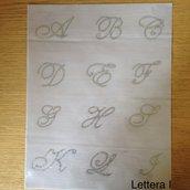 Applicazione/toppa strass hotfix termoadesivi lettera dell'alfabeto fatta a mano